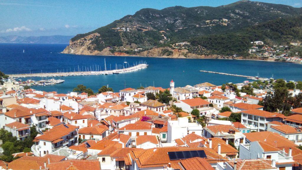 Der Morgen auf Skopelos City - Platon Kiriazidis