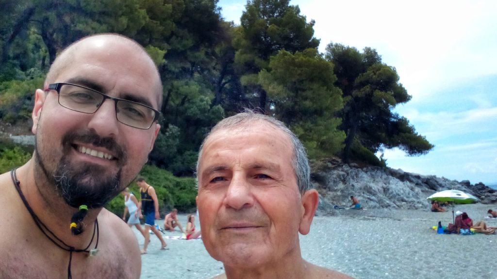 Selfie Kastani Beach Skopelos - Platon Kiriazidis