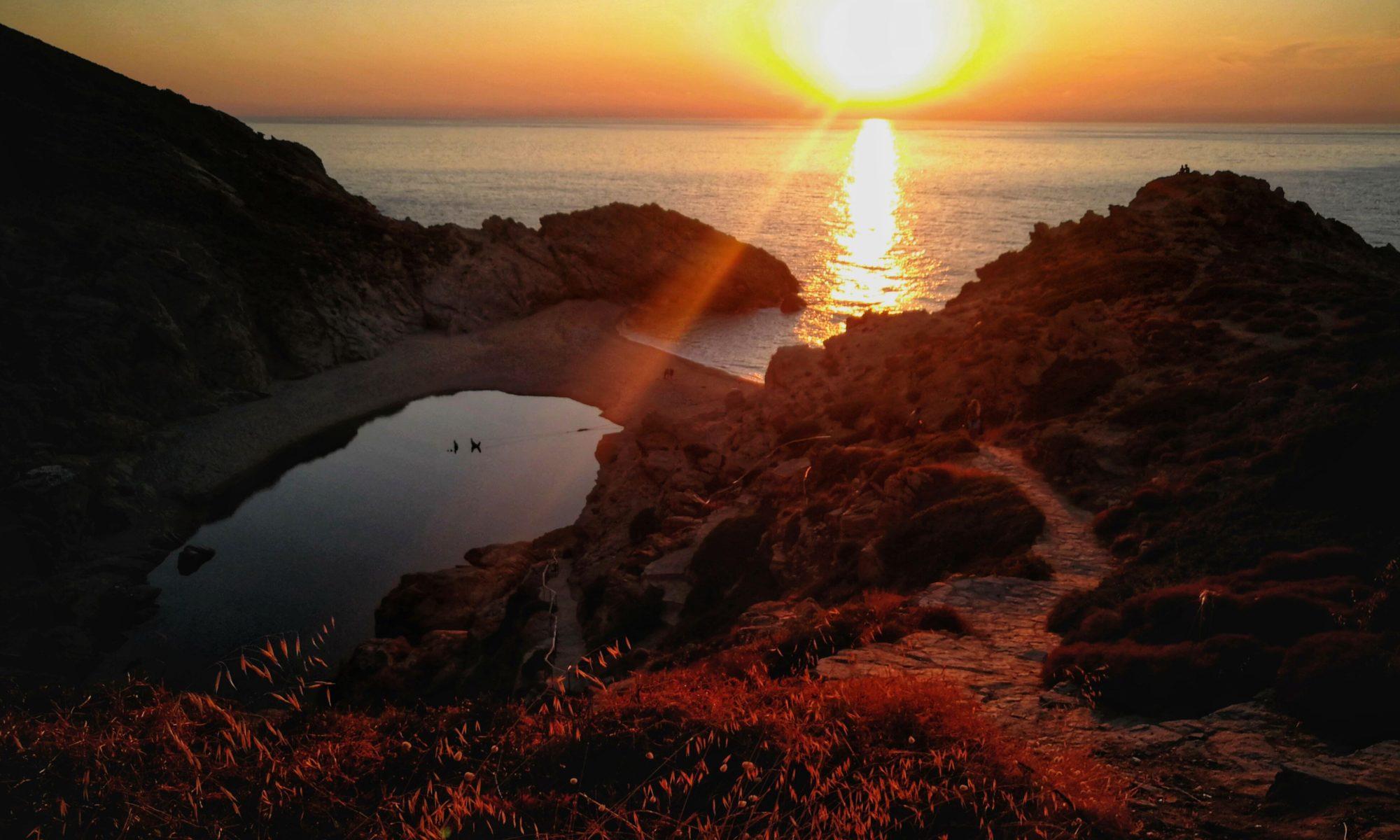 Sonnenuntergang bei Nas Ikaria Platon Kiriazidis