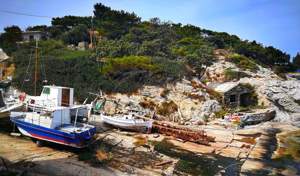 Hafen von Galiskari Ikaria Platon Kiriazidis