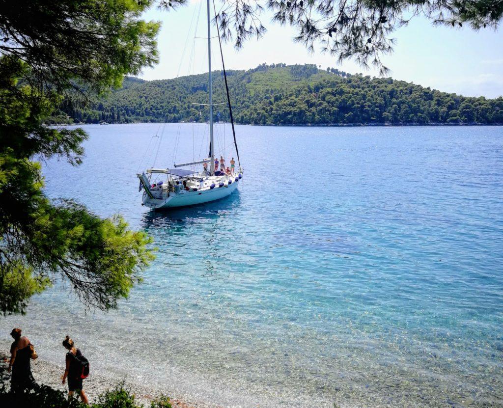 hidden beach, Skopelos, Westseite, Urlaubsseminare, Platon Kiriazidis