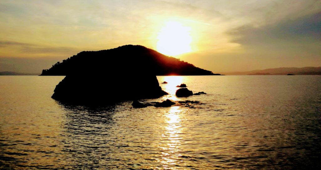 Sunset, Sonnenuntergang Westseite Skopelos, Kastani Beach, Platon Kiriazidis, Seminare, Urlaub