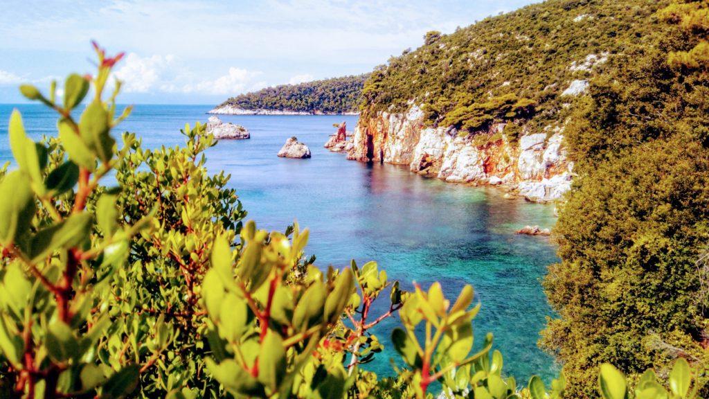 traumhaftes Skopelos, einfach ein Paradies in grün und blau, ideal für Urlaubsseminare